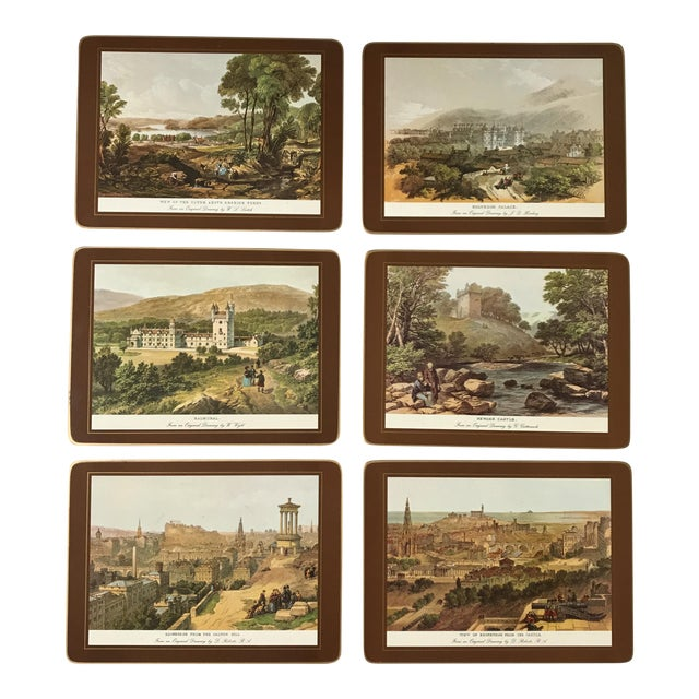 Traditional English Scene Placemats - Set of 6 For Sale