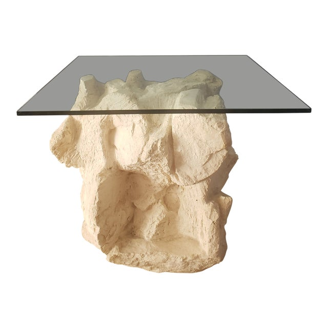 1970s Contemporary Sirmos Quarry Side Table For Sale