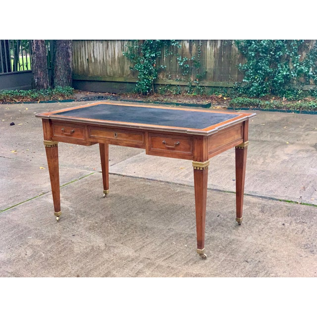 Directoire Style Writing Desk With Leather Top For Sale - Image 10 of 11