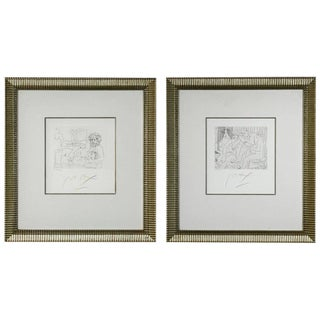 Peter Max Etchings V. 3. IX and XII - a Pair For Sale