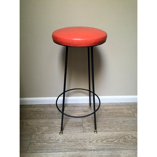 Orange Retro Stiletto Bar Stools - Set of 4 - Image 6 of 10