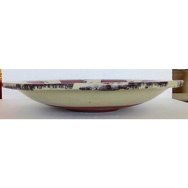 Glazed Pottery Bowl/Plate Centerpiece - Image 4 of 7