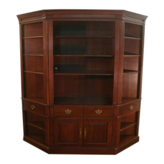 Pennsylvania House Solid Cherry Three Piece Bookcase Unit For Sale