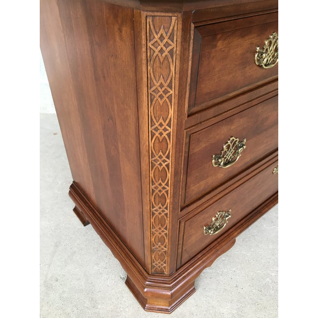 Brown Pennsylvania House Cherry Chinese Chippendale Style 9 Drawer Chest on Chest For Sale - Image 8 of 13