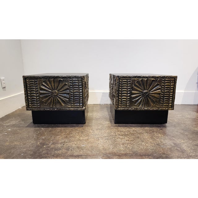 Mid-Century Modern Adrian Pearsall Brutalist Side or Coffee Tables a Pair For Sale - Image 3 of 11