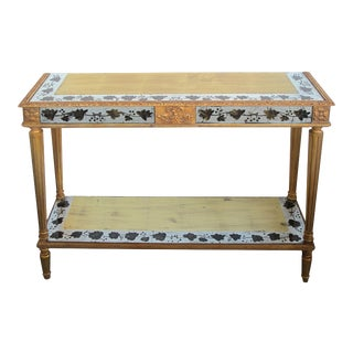 A French Maison Jansen neoclassical style 1940's eglomise console table For Sale
