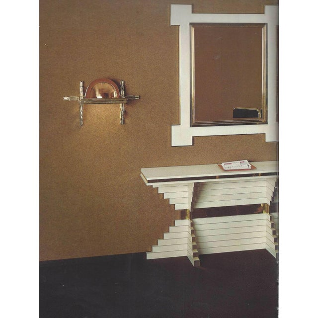 1975 Alain Delon for Maison Jansen Lacquer and Brass Wall Mirror For Sale - Image 9 of 13