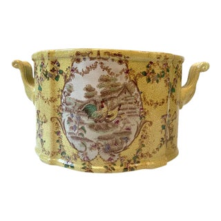 Vintage French Oblong Cachepot For Sale