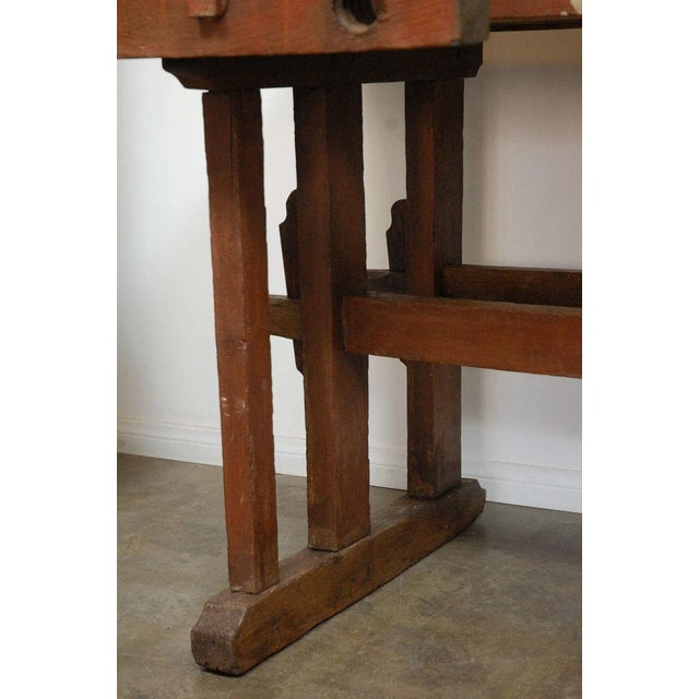 Mid 19th Century Antique Hungarian Craftsman's Workbench For Sale - Image 5 of 8