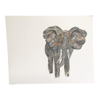 Impressionist Elephant Painting Print For Sale