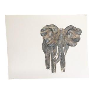 Original Modern Impressionist Elephant Painting