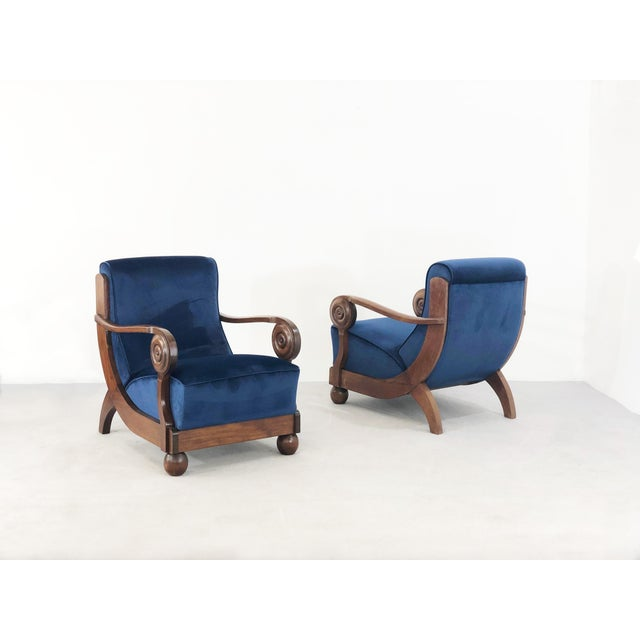 Maxime OLd Exceptional French Art Deco Armchairs For Sale - Image 6 of 6