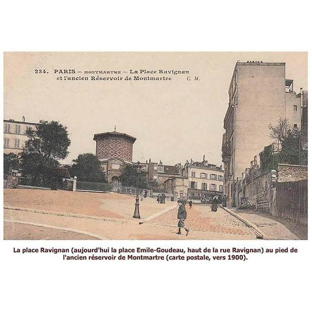 Black Maurice Utrillo La Place Ravignan For Sale - Image 8 of 9