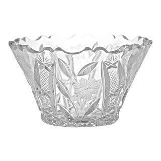 Cut Crystal Bowl For Sale
