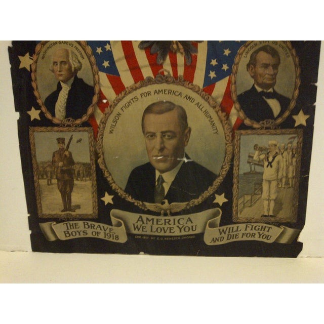 Vintage WWI Presidential Campaign Poster For Sale - Image 5 of 8