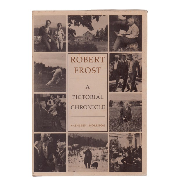Vintage Robert Frost A Pictorial Chronicle Hardcover Book For Sale