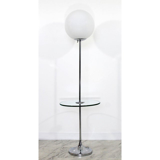 Excellent Mid Century Modern Laurel Chrome And Glass Globe Floor