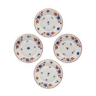 Early Pre-War German Porcelain Floral Dessert or Salad Plates - Set of 4 For Sale
