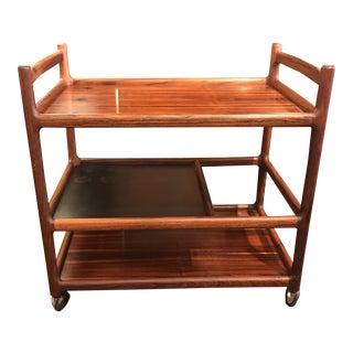 Danish Rosewood Bar Cart For Sale