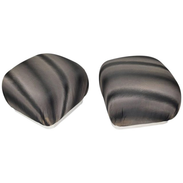 Pair of Souffle Poufs by Weiman - Image 1 of 8