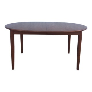 Danish Modern Teak Dining Table With Two Leafs For Sale