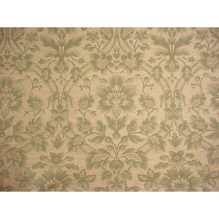 Kravet Couture Floral Sage Green Damask Upholstery Fabric- 2-7/8 Yards For Sale