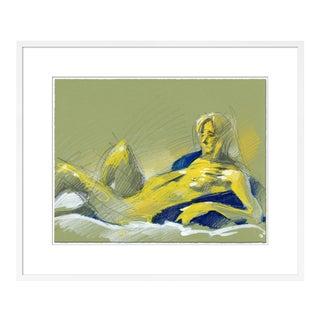 Figure 10 by David Orrin Smith in White Frame, Medium Art Print For Sale