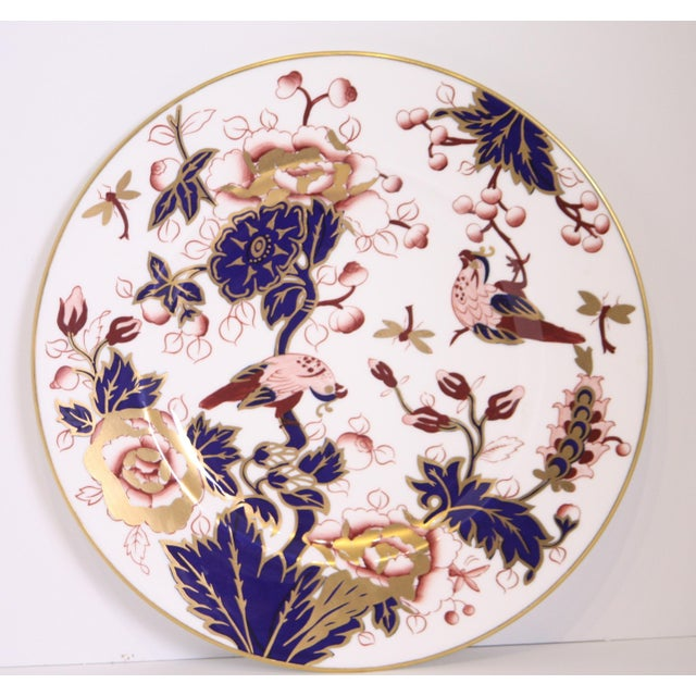 Blue Coalport Hong Kong Pattern Bone China Dinner Plate For Sale - Image 8 of 8