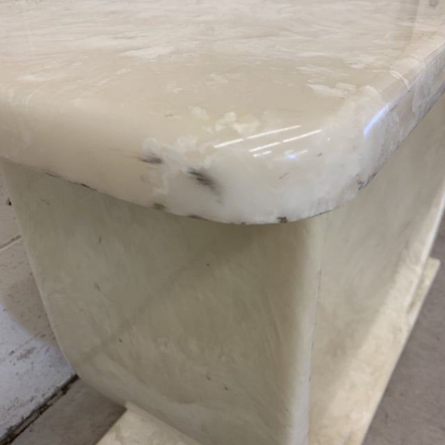 Stone Cultured Marble Console Table For Sale - Image 7 of 11