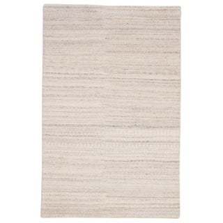 Jaipur Living Hermitage Hand-Knotted Trellis Ivory & Silver Area Rug - 2'x3'