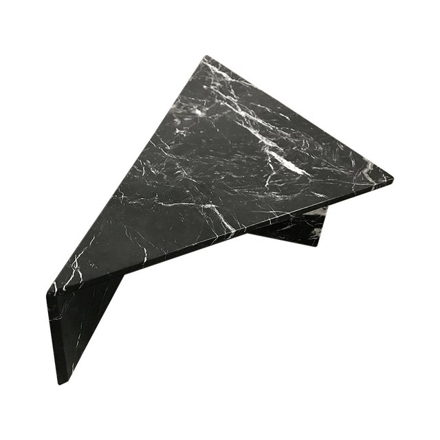 1970s Black Marble Triangular Coffee Table For Sale - Image 13 of 13