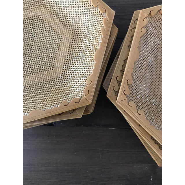 Wooden & Wicker Coasters - Set of 8 - Image 5 of 5