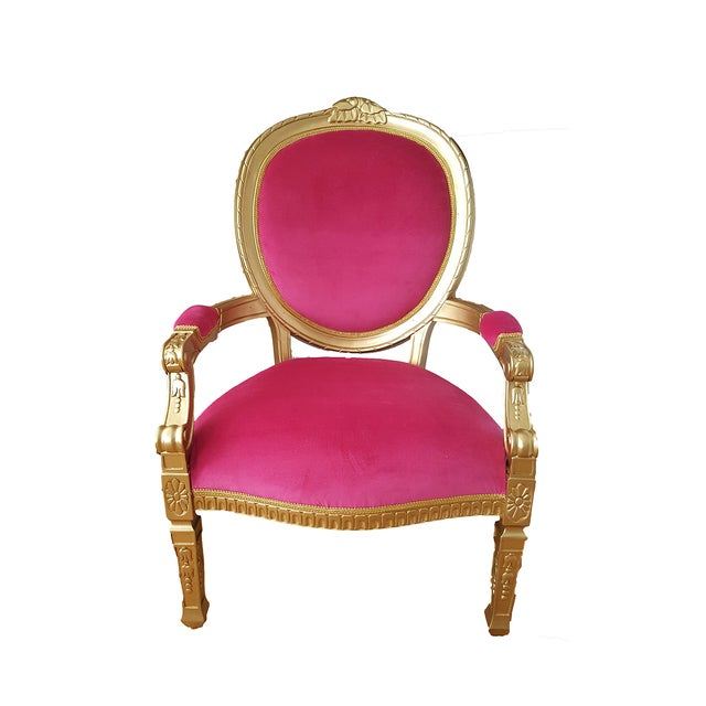 French Louis XVI Style Throne Chair - Image 1 of 2