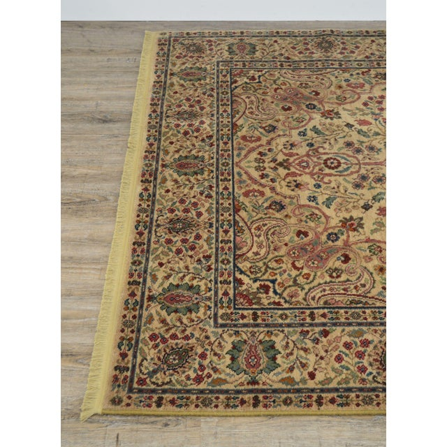 Karastan Tabriz Medallion Samovar Tea Wash 5'9 x 9' Rug For Sale - Image 11 of 12