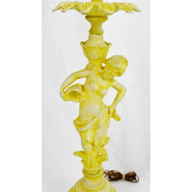 Vintage Figural Cast Metal Lamp - Image 4 of 10
