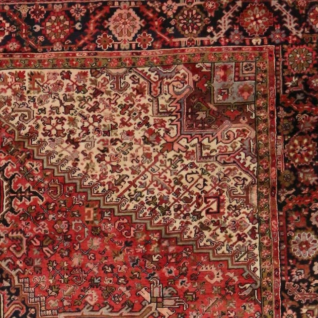 Vintage Persian Heriz Rug with Mid-Century Modern Style For Sale - Image 5 of 8
