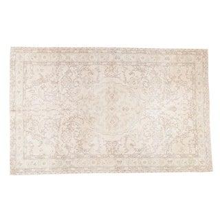 "Distressed Oushak Carpet - 6'3"" X 10'"