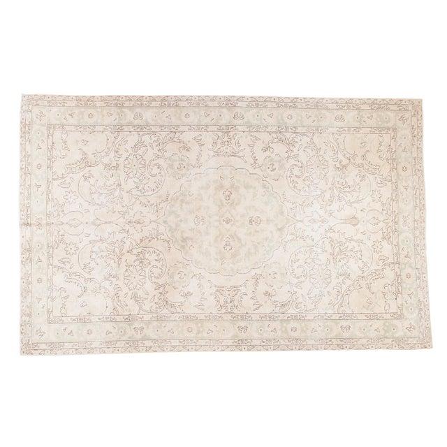 "Distressed Oushak Carpet - 6'3"" X 10' - Image 1 of 8"