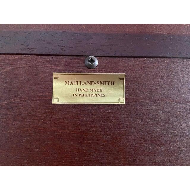 Vintage Regency Maitland Smith Flame Mahogany Burl Two Part Secretary Desk For Sale - Image 10 of 13