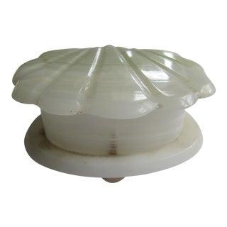 VintageAlabaster Shell Trinket Box For Sale
