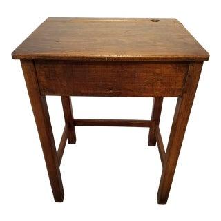 1910s Antique Oak English School Desk for Child/Student For Sale