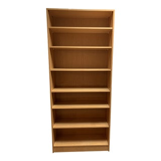Mid-20th Century Maple Bookcase + Adjustable Shelving For Sale
