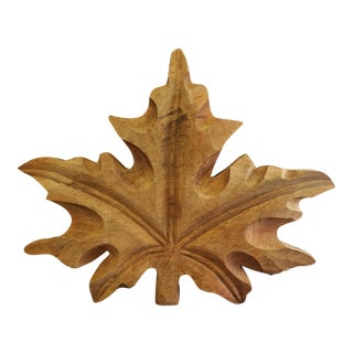 Hand Carved Maple Leaf
