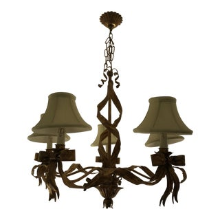 Golden French Country Chandelier For Sale