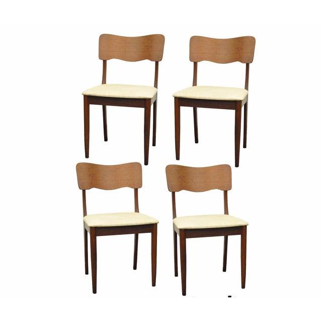 Gustav Bahus Norway Mid Century Danish Modern Teak Ribbon Dining Chairs - Set of 4 - Image 11 of 11