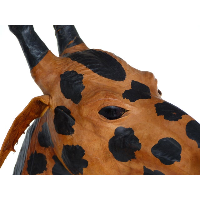 2000 - 2009 4 Foot Tall Leather Giraffe Sculpture For Sale - Image 5 of 11