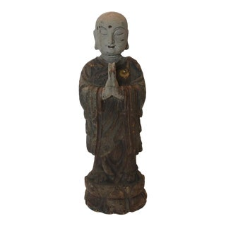 Vintage Chinese Wooden Monk