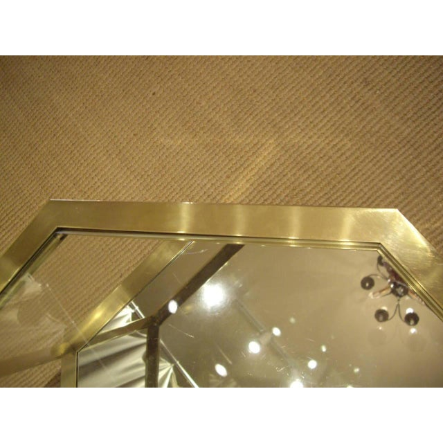 Vintage 1960s French Brass Coffee Table For Sale - Image 4 of 7
