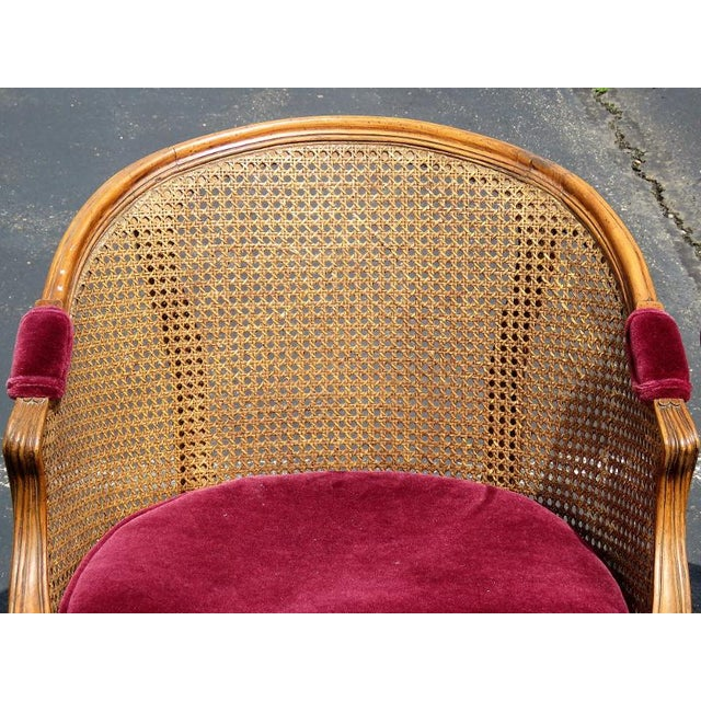 Louis XV Style Caned Lounge Chairs - A Pair For Sale In Philadelphia - Image 6 of 6