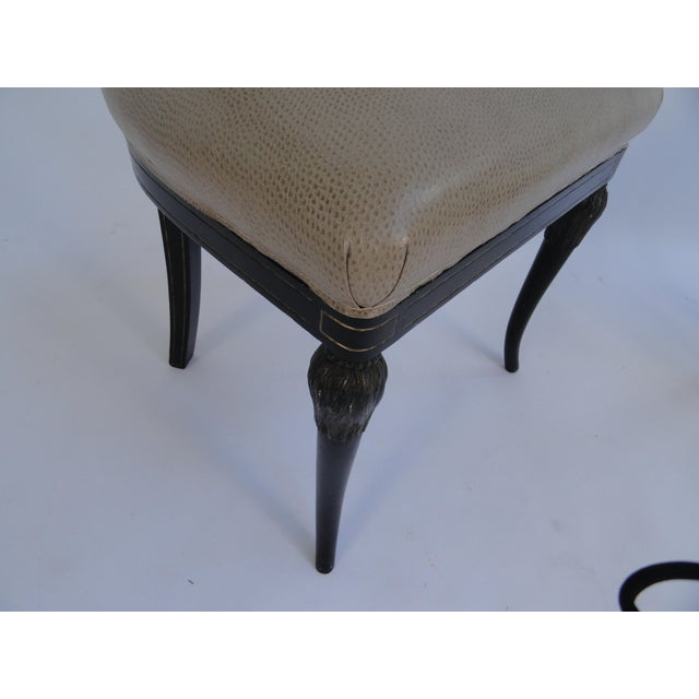 Wood Vintage Mid Century Maison Jansen Side Chairs - Set of 4 For Sale - Image 7 of 11
